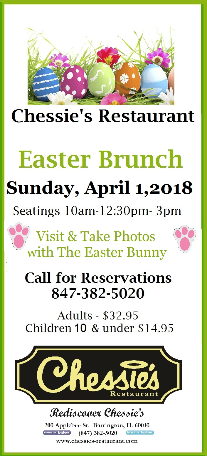 Chessies Easter Brunch 2018
