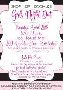 Shop, Sip, Socialize Girls Night Out 2018 )