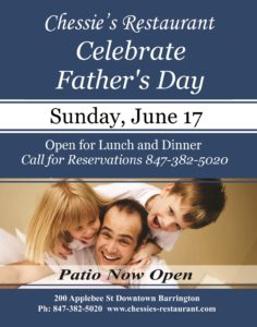 Father's Day at Chessie's Restaurant