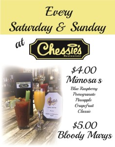 Chessies Sat Sun Mimosa Bloody Marys