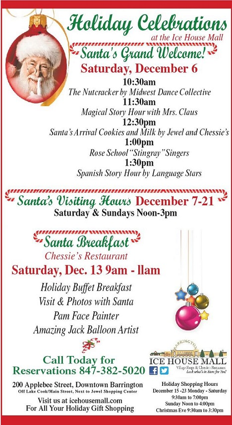 mall holiday santa arrival and breakfast holiday hours resized