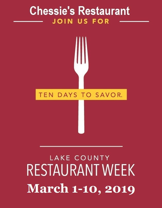 Chessie's Restaurant Week 2019